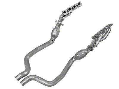 AFE 1-3/4 in. Twisted Steel Shorty Headers & Catted Mid-Pipe - Street Series (11-14 6.4L HEMI)