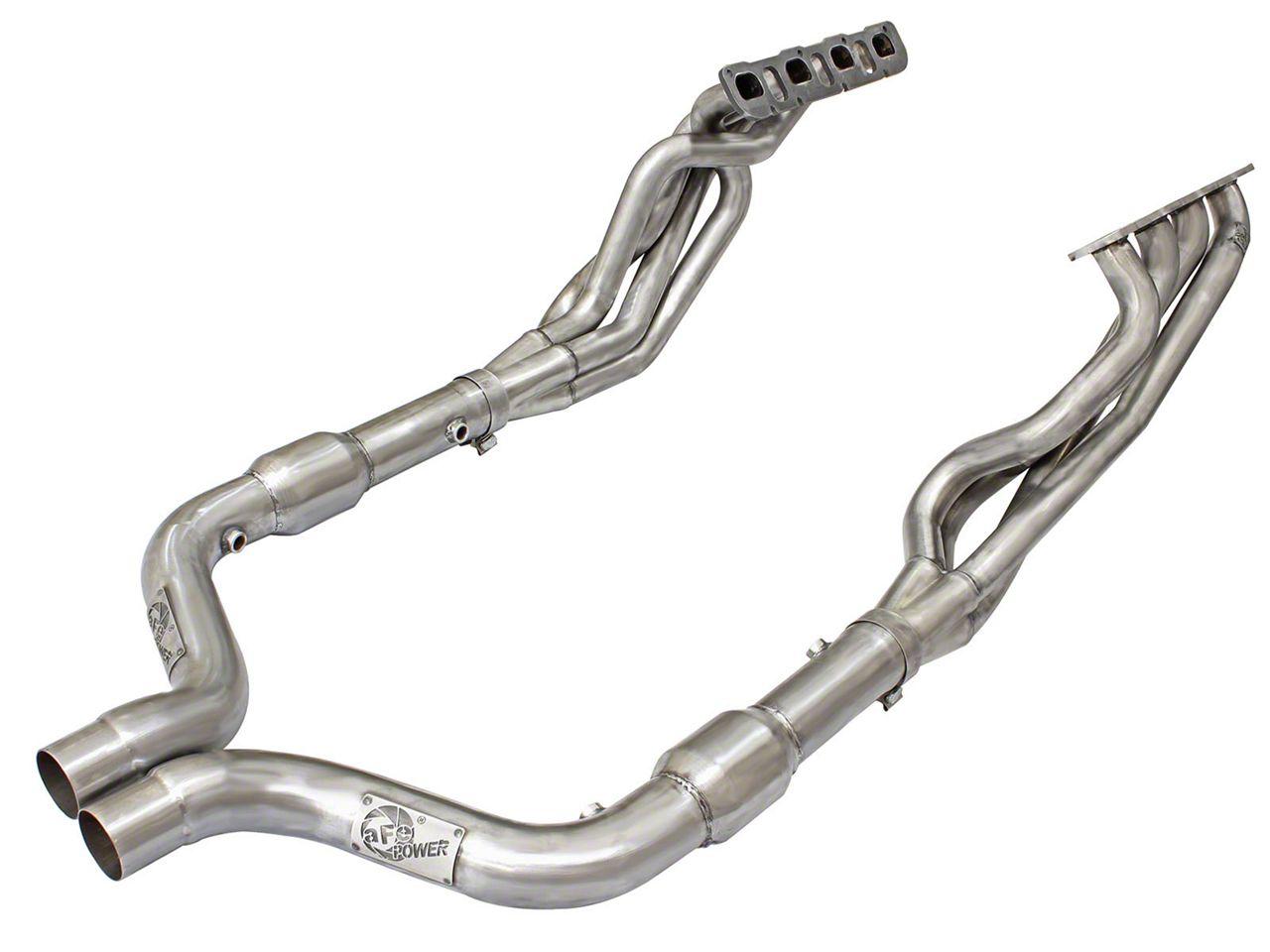 AFE 1-7/8 in. Twisted Steel Long Tube Headers & Catted Mid-Pipe - Street Series (15-18 6.2L HEMI, 6.4L HEMI)