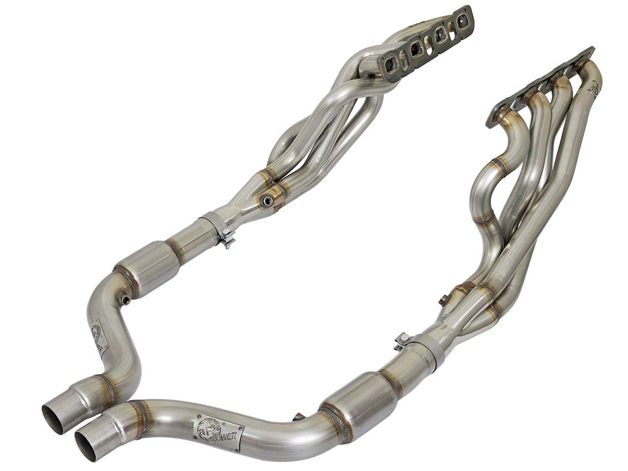 AFE 2 in. Twisted Steel Long Tube Headers & Catted Mid-Pipe - Street Series (15-18 6.2L HEMI, 6.4L HEMI)