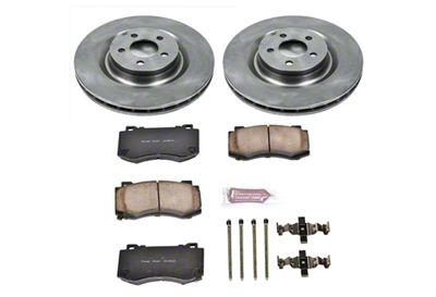 Power Stop OE Replacement Brake Rotor & Pad Kit - Front (08-14 SRT8; 15-16 Scat Pack; 2017 R/T 392; 18-19 w/ 4-Piston Front Calipers)