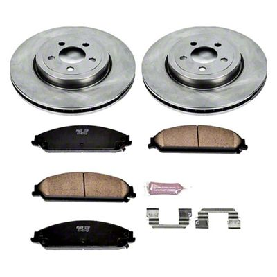 Power Stop OE Replacement Brake Rotor & Pad Kit - Front (09-19 R/T; 11-19 SE, SXT w/ Dual Piston Front Calipers)