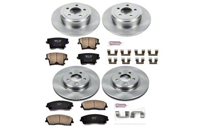 Power Stop OE Replacement Brake Rotor & Pad Kit - Front & Rear (09-10 SE; 2011-19 SE, SXT w/ Single Piston Front Calipers)