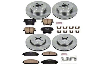 Power Stop OE Replacement Brake Rotor & Pad Kit - Front & Rear (09-19 R/T; 11-19 SE, SXT w/ Dual Piston Front Calipers)