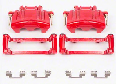 Power Stop Performance Front Brake Calipers - Red (09-11 R/T; 2011 SE w/ Dual Piston Front Calipers)