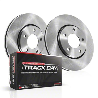 Power Stop Track Day Plus Brake Rotor & Pad Kit - Front (08-14 SRT8; 15-16 Scat Pack; 2017 R/T 392; 18-19 w/ 4-Piston Front Calipers)