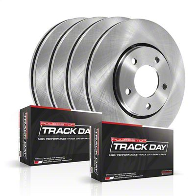 Power Stop Track Day Plus Brake Rotor & Pad Kit - Front & Rear (08-14 SRT8; 15-16 Scat Pack; 2017 R/T 392; 18-19 w/ 4-Piston Front Calipers)