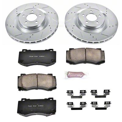Power Stop Z23 Evolution Sport Brake Rotor & Pad Kit - Front (08-14 SRT8; 15-16 Scat Pack; 2017 R/T 392; 18-19 w/ 4-Piston Front Calipers)
