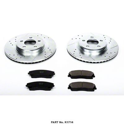 Power Stop Z23 Evolution Sport Brake Rotor & Pad Kit - Front (09-10 SE; 2011-19 SE, SXT w/ Single Piston Front Calipers)