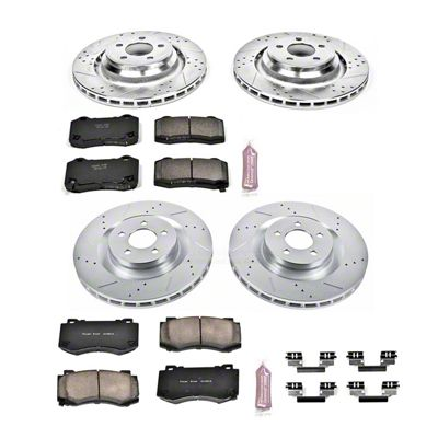 Power Stop Z23 Evolution Sport Brake Rotor & Pad Kit - Front & Rear (08-14 SRT8; 15-16 Scat Pack; 2017 R/T 392; 18-19 w/ 4-Piston Front Calipers)