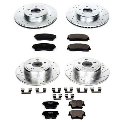 Power Stop Z23 Evolution Sport Brake Rotor & Pad Kit - Front & Rear (09-10 SE; 2011-19 SE, SXT w/ Single Piston Front Calipers)