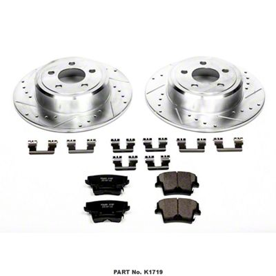 Power Stop Z23 Evolution Sport Brake Rotor & Pad Kit - Rear (09-10 SE; 2011-19 SE, SXT w/ Single Piston Front Calipers)