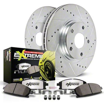 Power Stop Z26 Street Warrior Brake & Rotor Pad Kit - Front (15-19 SRT 392, Hellcat)