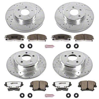 Power Stop Z26 Street Warrior Brake & Rotor Pad Kit - Front & Rear (09-10 SE; 2011-19 SE, SXT w/ Single Piston Front Calipers)