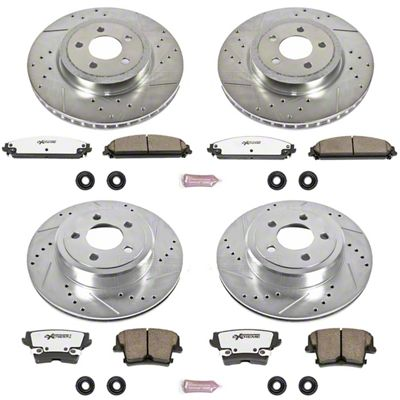 Power Stop Z26 Street Warrior Brake & Rotor Pad Kit - Front & Rear (09-19 R/T; 11-19 SE, SXT w/ Dual Piston Front Calipers)