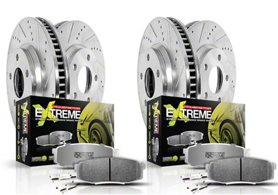 Power Stop Z26 Street Warrior Brake & Rotor Pad Kit - Front & Rear (15-19 SRT 392, Hellcat)