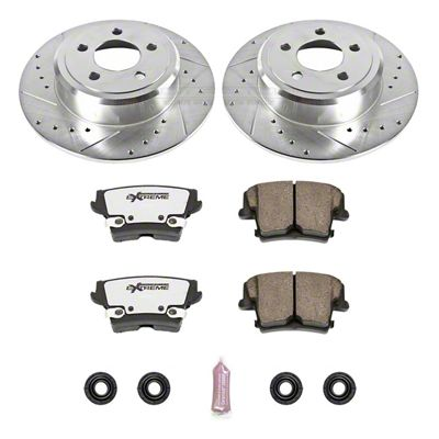 Power Stop Z26 Street Warrior Brake & Rotor Pad Kit - Rear (09-10 SE; 2011-19 SE, SXT w/ Single Piston Front Calipers)