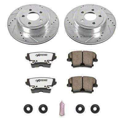 Power Stop Z26 Street Warrior Brake & Rotor Pad Kit - Rear (09-19 R/T; 11-19 SE, SXT w/ Dual Piston Front Calipers)