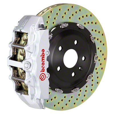Brembo GT Series 8-Piston Front Big Brake Kit - 15 in. 2-Piece Cross-Drilled Rotors - Silver (08-14 SRT8)