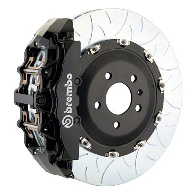 Brembo GT Series 8-Piston Front Big Brake Kit - 15 in. 2-Piece Type 3 Slotted Rotors - Black (08-14 SRT8)