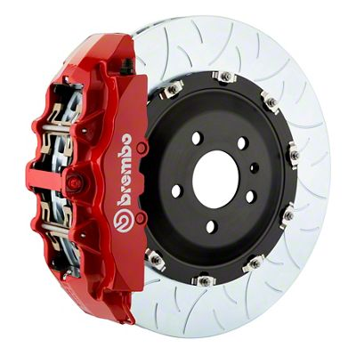 Brembo GT Series 8-Piston Front Big Brake Kit - 15 in. 2-Piece Type 3 Slotted Rotors - Red (08-14 SRT8)