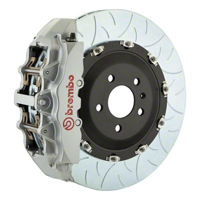 Brembo GT Series 8-Piston Front Big Brake Kit - 15 in. 2-Piece Type 3 Slotted Rotors - Silver (08-14 SRT8)