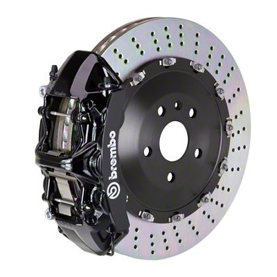 Brembo GT Series 6-Piston Front Big Brake Kit - 15 in. 2-Piece Slotted Rotors - Black (08-14 SRT8)