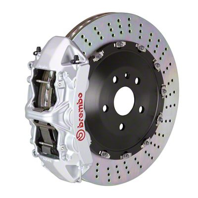 Brembo GT Series 6-Piston Front Big Brake Kit - 15 in. 2-Piece Slotted Rotors - Silver (08-14 SRT8)