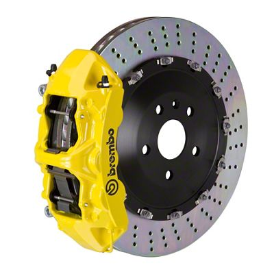 Brembo GT Series 6-Piston Front Big Brake Kit - 15 in. 2-Piece Slotted Rotors - Yellow (08-14 SRT8)