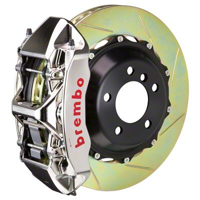 Brembo GT-R Series 6-Piston Front Big Brake Kit - 15 in. 2-Piece Slotted Rotors - Nickel Plated (08-14 SRT8)