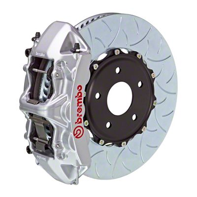 Brembo GT Series 6-Piston Front Big Brake Kit - 15 in. 2-Piece Type 3 Slotted Rotors - Silver (08-14 SRT8)