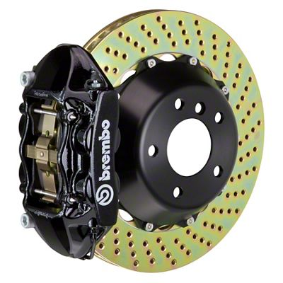 Brembo GT Series 4-Piston Rear Big Brake Kit - 15 in. 2-Piece Cross-Drilled Rotors - Black (08-14 SRT8)