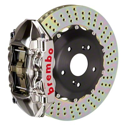 Brembo GT-R Series 4-Piston Rear Big Brake Kit - 15 in. 2-Piece Cross-Drilled Rotors - Nickel Plated (08-14 SRT8)
