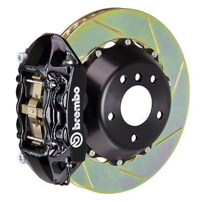 Brembo GT Series 4-Piston Rear Big Brake Kit - 15 in. 2-Piece Slotted Rotors - Black (08-14 SRT8)