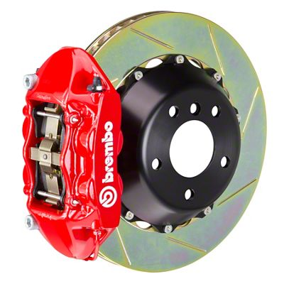 Brembo GT Series 4-Piston Rear Big Brake Kit - 15 in. 2-Piece Slotted Rotors - Red (08-14 SRT8)