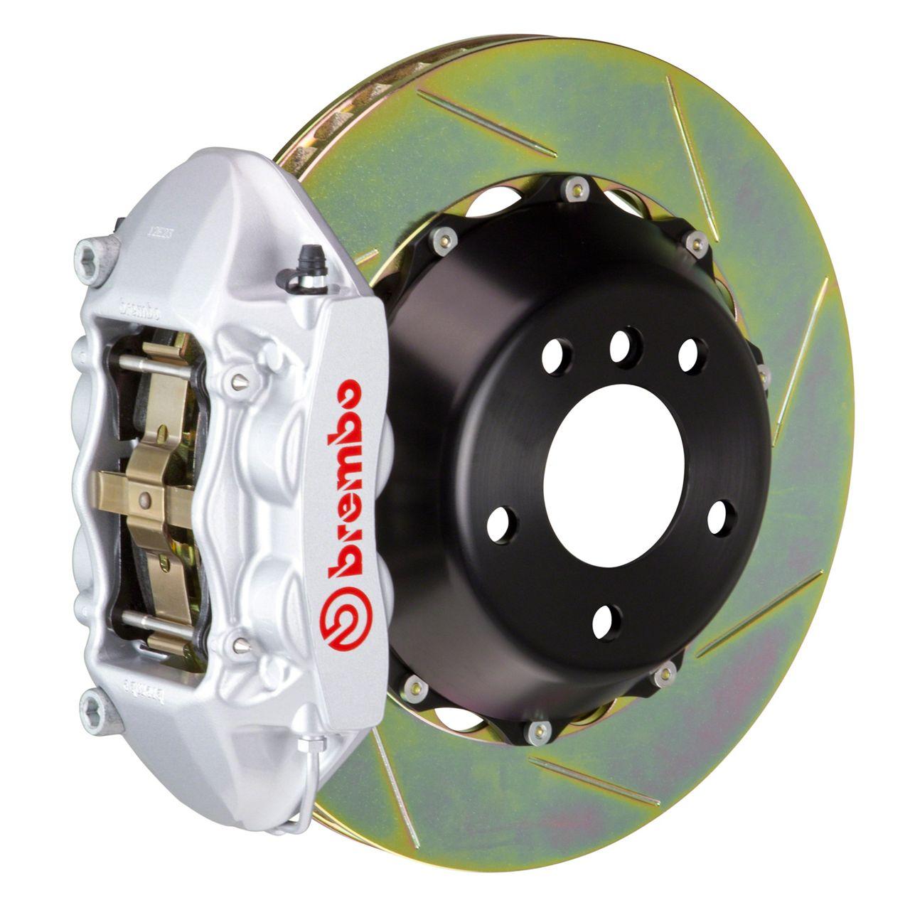 Brembo GT Series 4-Piston Rear Big Brake Kit - 15 in. 2-Piece Slotted Rotors - Silver (08-14 SRT8)