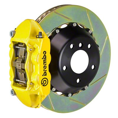 Brembo GT Series 4-Piston Rear Big Brake Kit - 15 in. 2-Piece Slotted Rotors - Yellow (08-14 SRT8)