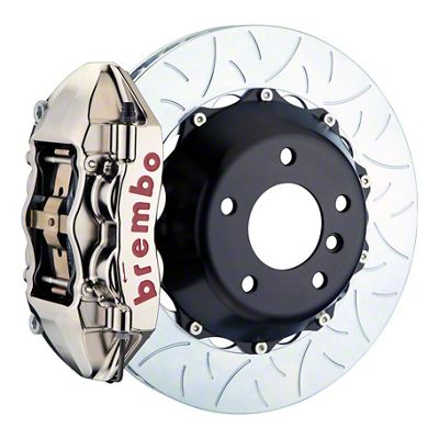 Brembo GT-R Series 4-Piston Rear Big Brake Kit - 15 in. 2-Piece Type 3 Slotted Rotors - Nickel Plated (08-14 SRT8)