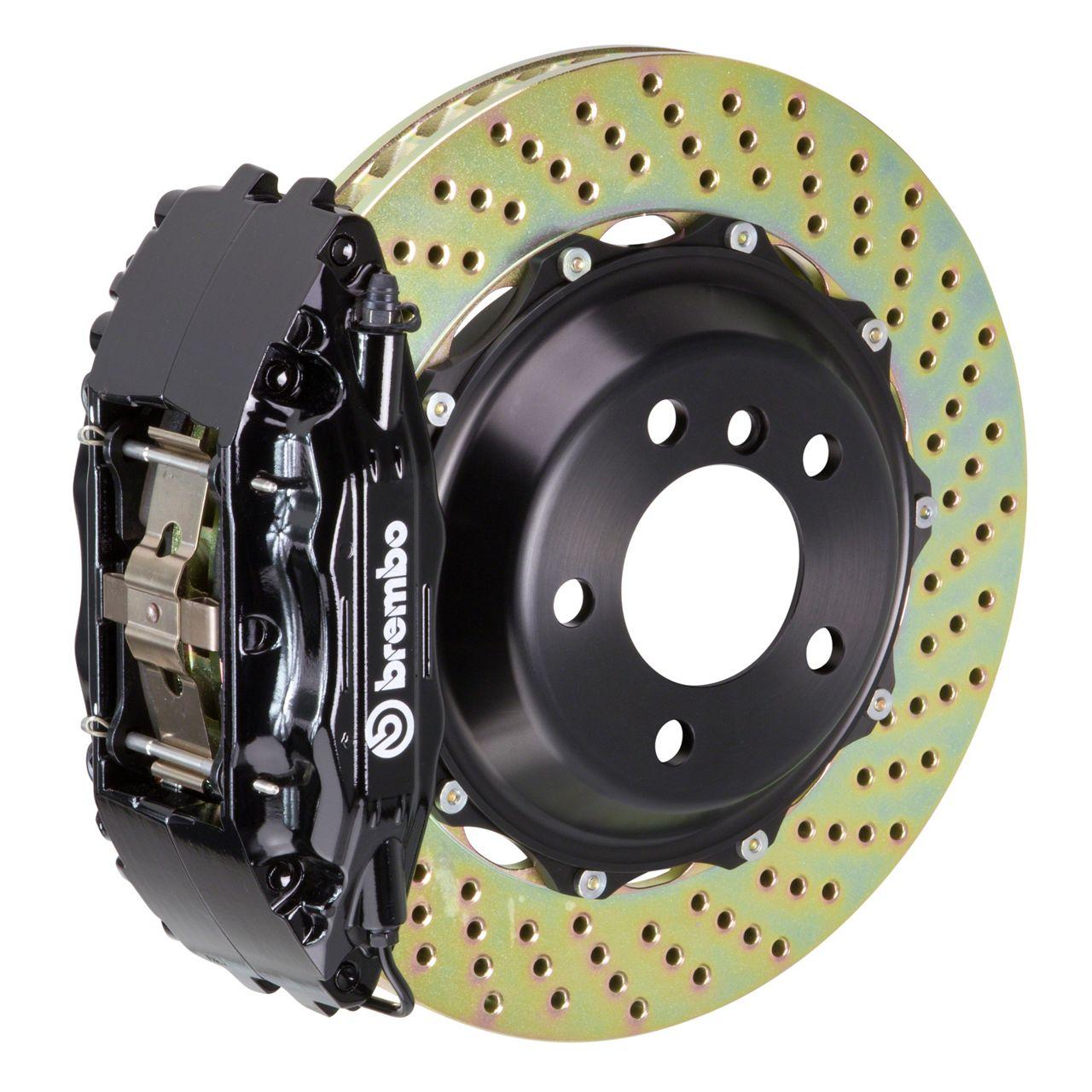 Brembo GT Series 4-Piston Front Big Brake Kit - 14 in. 2-Piece Cross-Drilled Rotors - Black (09-10 R/T, SE)
