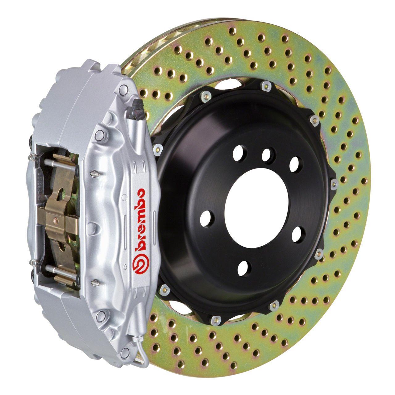 Brembo GT Series 4-Piston Front Big Brake Kit - 14 in. 2-Piece Cross-Drilled Rotors - Silver (09-10 R/T, SE)