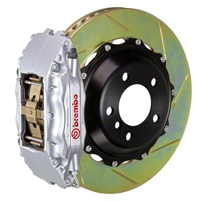 Brembo GT Series 4-Piston Front Big Brake Kit - 14 in. 2-Piece Slotted Rotors - Silver (09-10 R/T, SE)