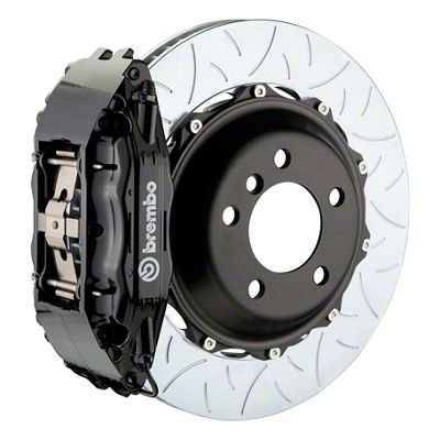 Brembo GT Series 4-Piston Front Big Brake Kit - 14 in. 2-Piece Type 3 Slotted Rotors - Black (09-10 R/T, SE)