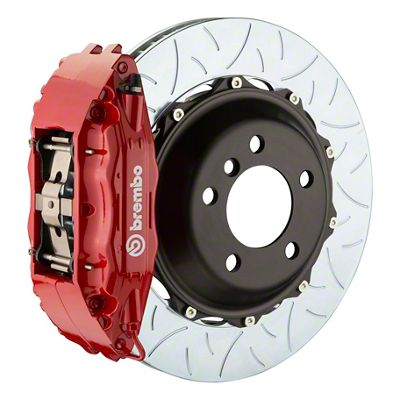 Brembo GT Series 4-Piston Front Big Brake Kit - 14 in. 2-Piece Type 3 Slotted Rotors - Red (09-10 R/T, SE)