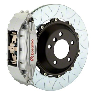 Brembo GT Series 4-Piston Front Big Brake Kit - 14 in. 2-Piece Type 3 Slotted Rotors - Silver (09-10 R/T, SE)