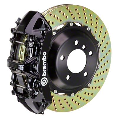 Brembo GT Series 6-Piston Front Big Brake Kit - 14 in. 2-Piece Cross-Drilled Rotors - Black (09-10 R/T, SE)