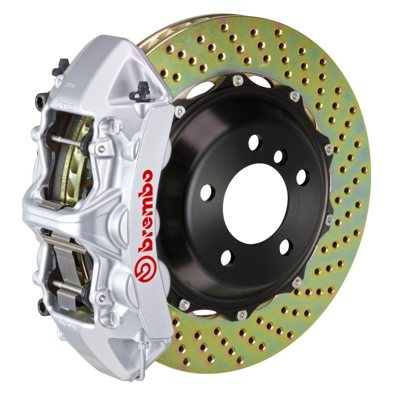 Brembo GT Series 6-Piston Front Big Brake Kit - 14 in. 2-Piece Cross-Drilled Rotors - Silver (09-10 R/T, SE)