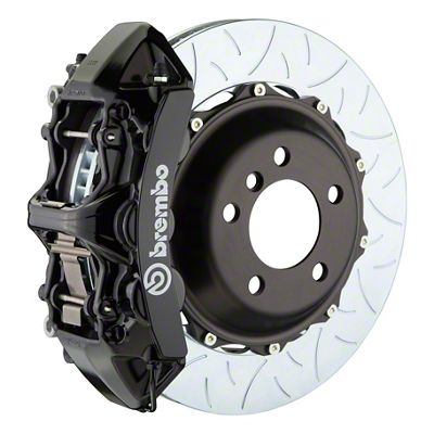 Brembo GT Series 6-Piston Front Big Brake Kit - 14 in. 2-Piece Type 3 Slotted Rotors - Black (09-10 R/T, SE)