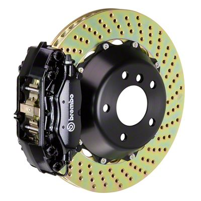 Brembo GT Series 4-Piston Rear Big Brake Kit - 13.6 in. 2-Piece Cross-Drilled Rotors - Black (09-10 R/T, SE)