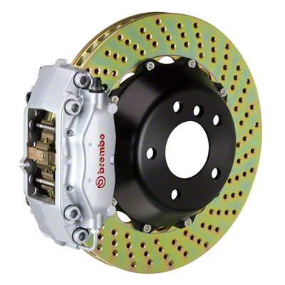 Brembo GT Series 4-Piston Rear Big Brake Kit - 13.6 in. 2-Piece Cross-Drilled Rotors - Silver (09-10 R/T, SE)
