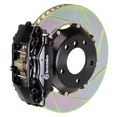Brembo GT Series 4-Piston Rear Big Brake Kit - 13.6 in. 2-Piece Slotted Rotors - Black (09-10 R/T, SE)
