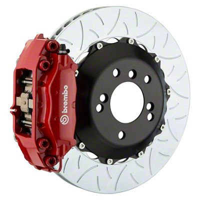 Brembo GT Series 4-Piston Rear Big Brake Kit - 13.6 in. 2-Piece Type 3 Slotted Rotors - Red (09-10 R/T, SE)
